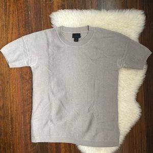 J crew collection 100% cashmere pointelle top XS